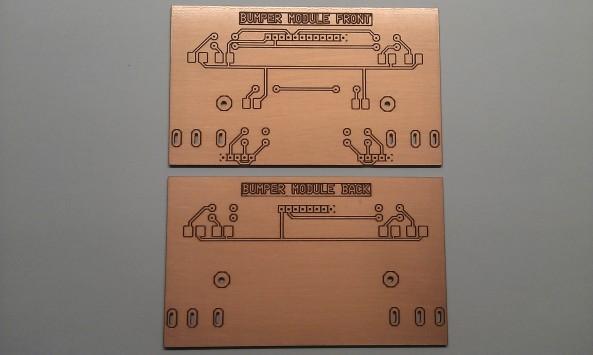 Gefreesde printplaat voor-en achterbumper